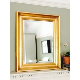 Elegance gold gilt wall mirror 16x20