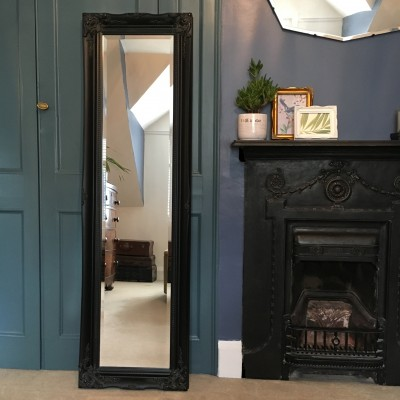 ornate classic black mirror 12x54