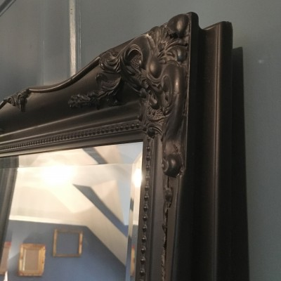 ornate classic black mirror 18x54