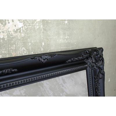 ornate classic black mirror 30x40