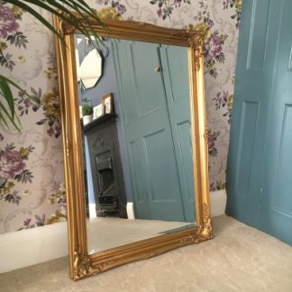ornate classic gold mirror 24x36