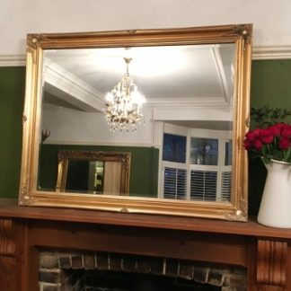 ornate classic gold mirror 30x40