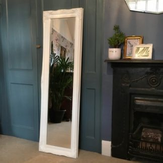 ornate classic ivory mirror 12x54