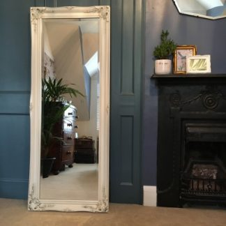 ornate classic ivory mirror 18x54