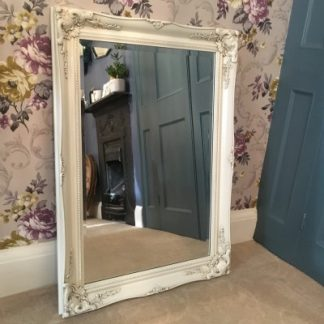 ornate classic ivory mirror 20x30