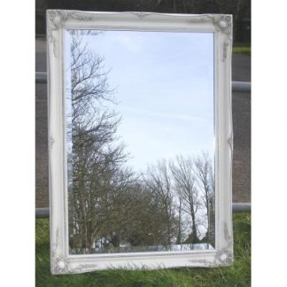 ornate classic ivory mirror 24x36