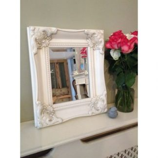 ornate classic ivory mirror 8x10