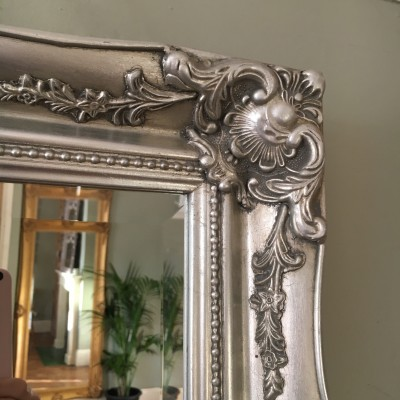 ornate classic silver mirror 10x14