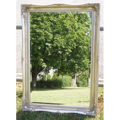 ornate classic silver mirror 24x36