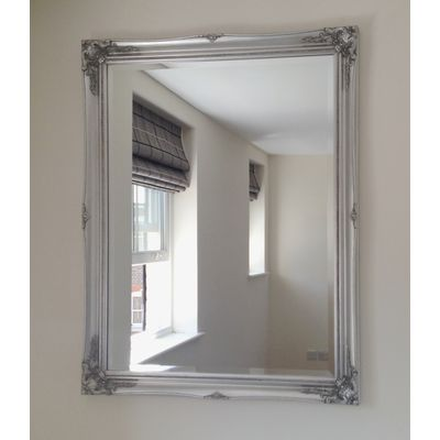 ornate classic silver mirror 30x40