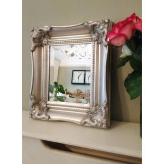 classic ornate silver mirror