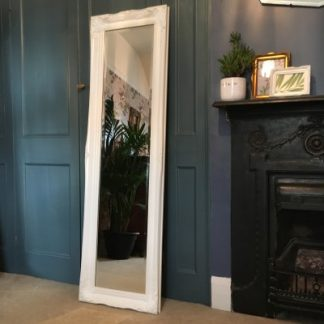 ornate classic white mirror 12x54