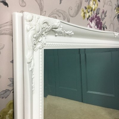 ornate classic white mirror 20x30