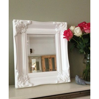 ornate classic white mirror 8x10