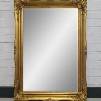 ornate classic gold mirror 20x30