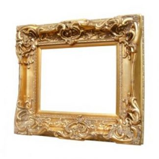 monaco ornate gold mirror 16x20