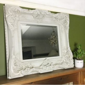 monaco ornate ivory mirror 16x20
