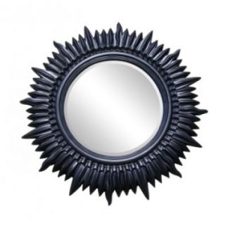 contemporary black starburst mirror