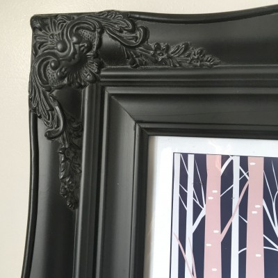 traditional black picture frame 12x16