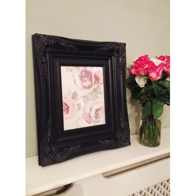 traditional black picture frame 8x10