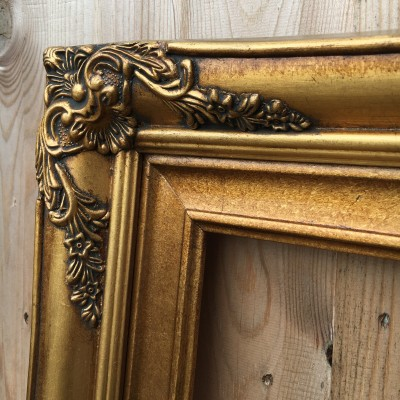 traditional gold picture frame 36x48