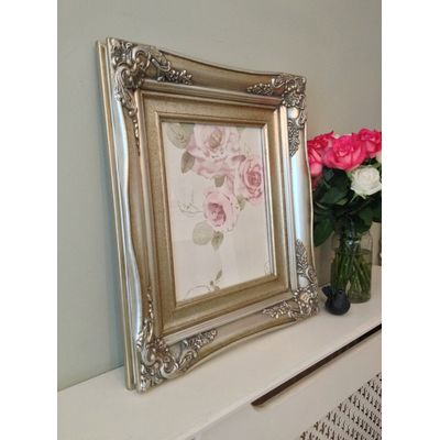 traditional champagne silver picture frame 10x12