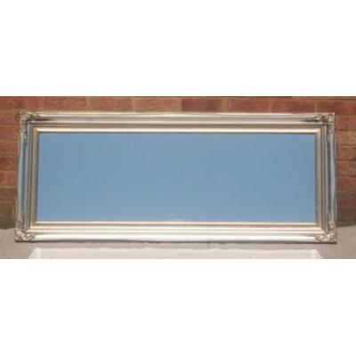 traditional champagne silver mirror 18x54