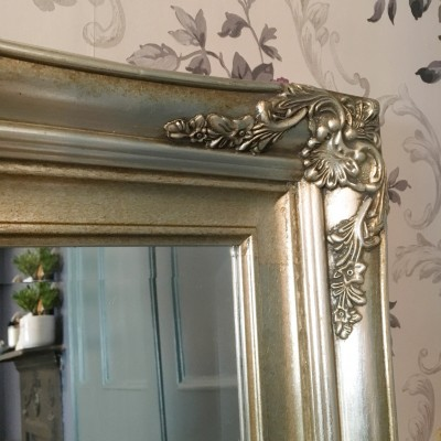 traditional champagne silver mirror 24x36