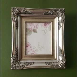 traditional champagne silver picture frame 8x10