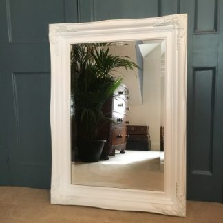traditional white mirror 20x30