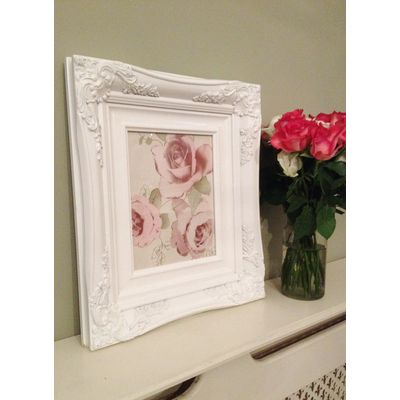 traditional white picture frame 8x10