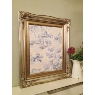 traditional champagne silver picture frame 12x16