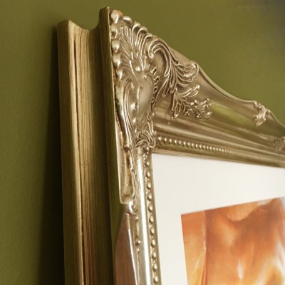 classic champagne silver picture frame 16x20