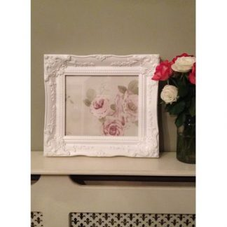 classic white picture frame 10x12