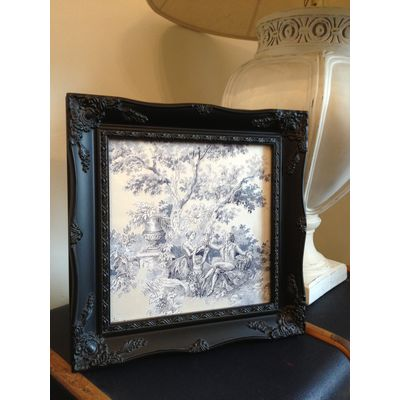 black ornate picture frame 10x10