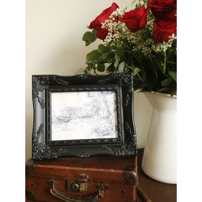 black ornate picture frame 5 x 7