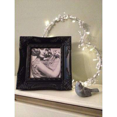 black ornate picture frame 6x6