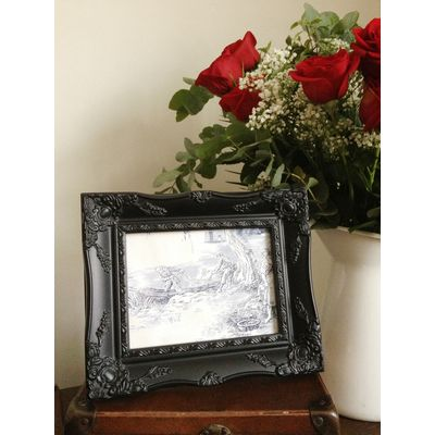 black ornate picture frame 6x8