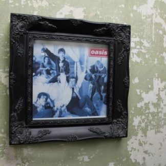 "ornate black 7"" single record cover picture frame"