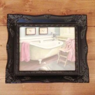 a4 black ornate picture frame