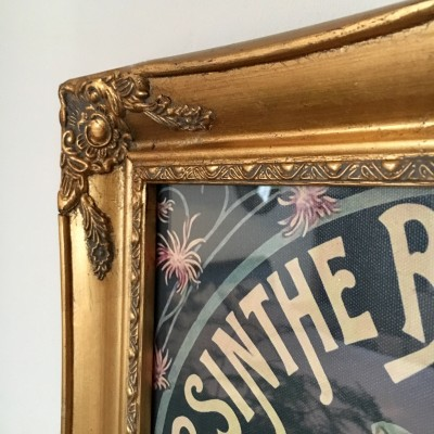 gold ornate picture frame 12x16