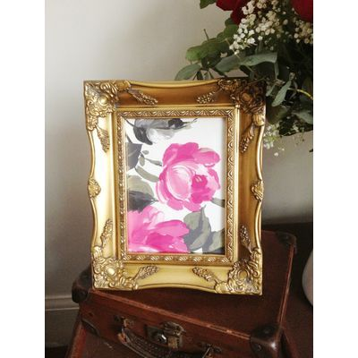 gold ornate picture frame 5 x 7