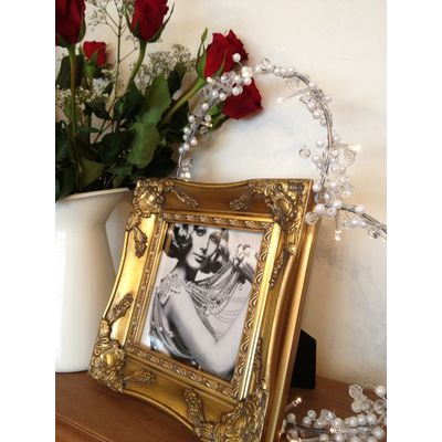 sqaure gold picture frame 6x6
