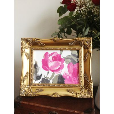 gold ornate picture frame 6x8