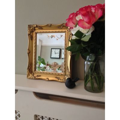 gold ornate mirror 8x10