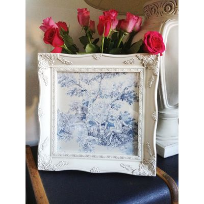 ivory ornate picture frame 10x10