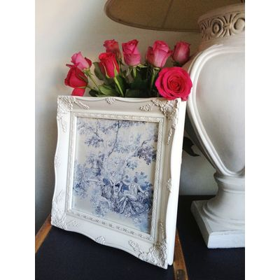 ivory ornate picture frame 12x12