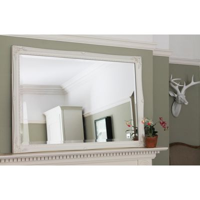 ivory ornate mirror 24x36