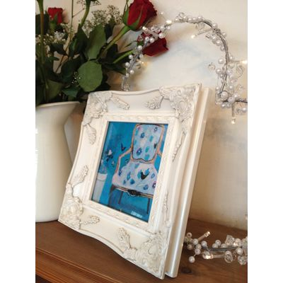 ivory ornate picture frame 6x6