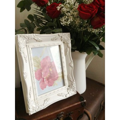 ivory ornate picture frame 6x8